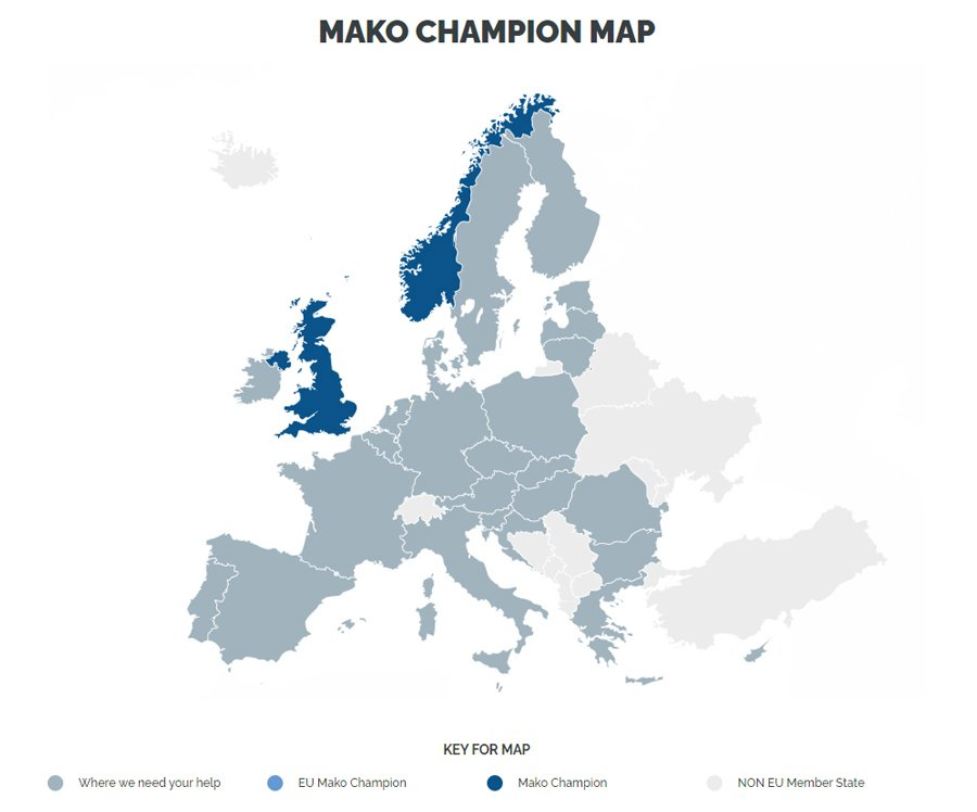 Mako Shark Champions Map