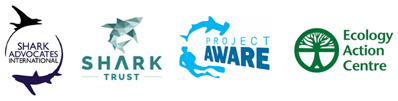Logos: Shark Advocates International, Shark Trust, Project Aware & Ecology Action Centre