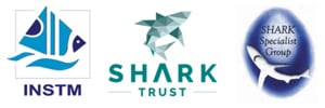 Logos: National Institute of Sciences & Technologies of the Sea (INSTM), Shark Trust & Shark Specialist Group (SSG)